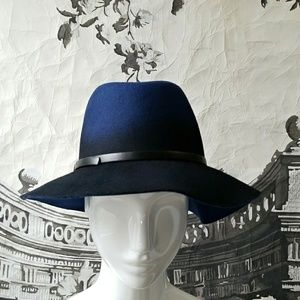 Accessories - Blue Ombre Felt Hat